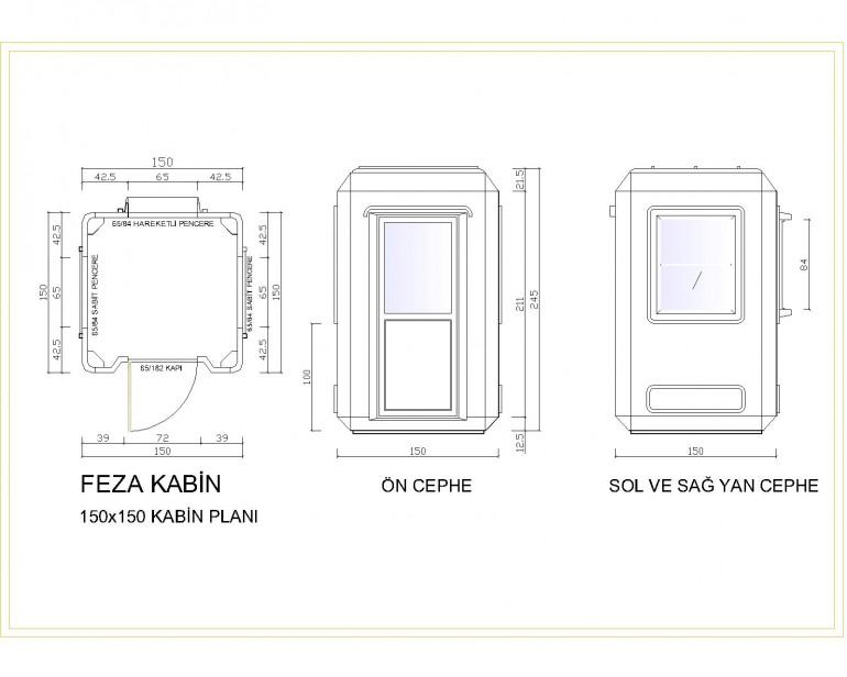 Standart Modüler Kabin 150×150