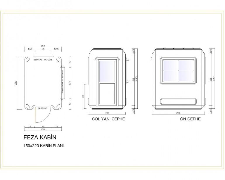 Standart Modüler Kabin 150×220