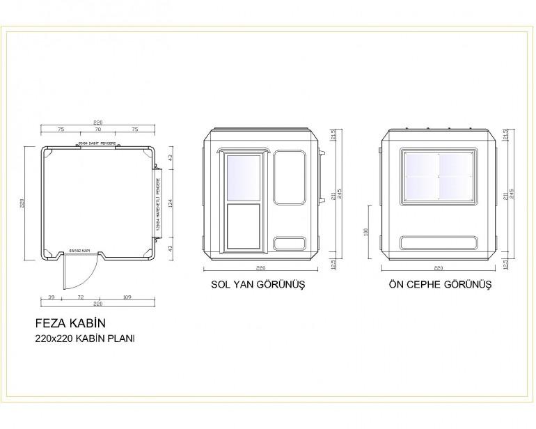 Standart Modüler Kabin 220×220