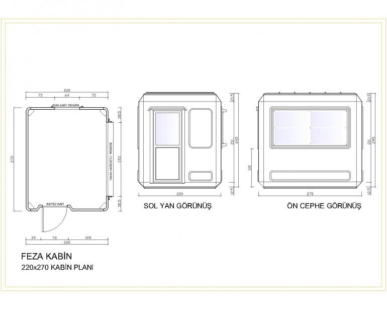 Standart Modüler Kabin 220×270