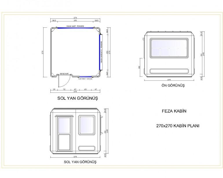 Standart Modüler Kabin 270×270