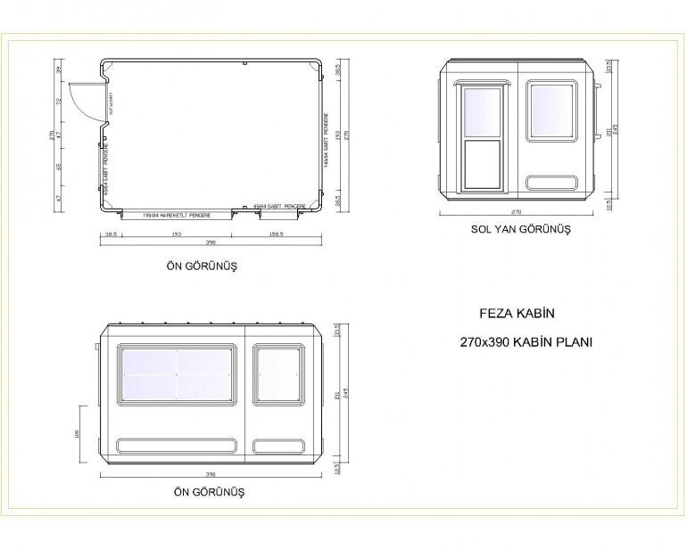 Standart Modüler Kabin 270×390