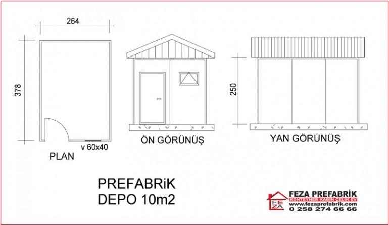 Prefabrik Depo 10m2