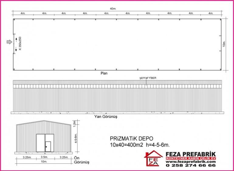 Konteyner Hangar 10×40