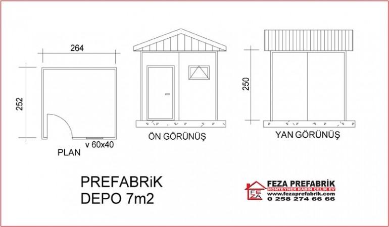Prefabrik Depo 7m2
