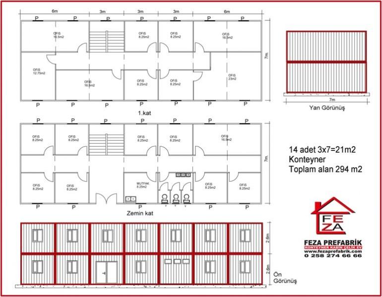 Sandwich Panel Konteyner 294 m2