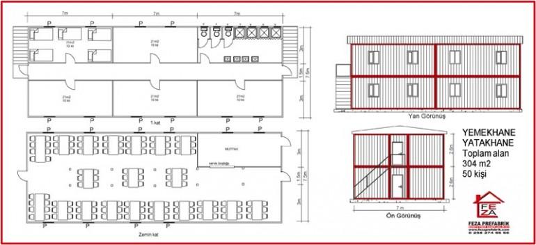 İki Katlı Konteyler 304 m2