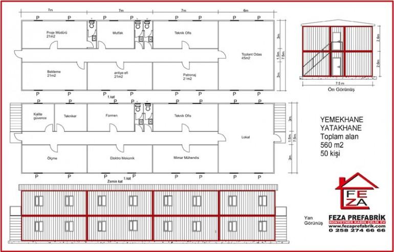İki Katlı Konteyler 560 m2