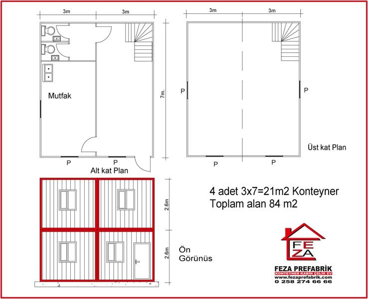 Sandwich Panel Konteyner 84 m2