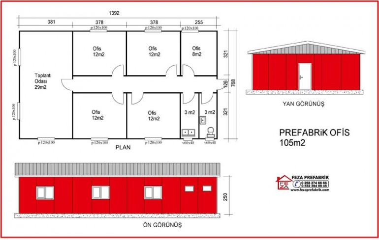 Prefabrik Ofis 105m2