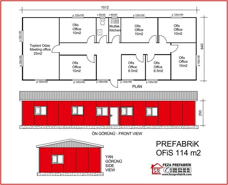 Prefabrik Ofis 114m2