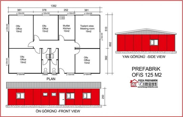 Prefabrik Ofis 125m2