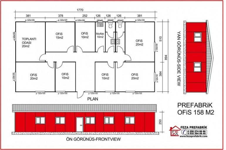 Prefabrik Ofis 158m2