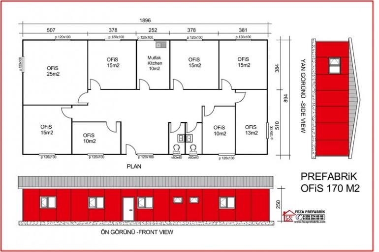 Prefabrik Ofis 170m2
