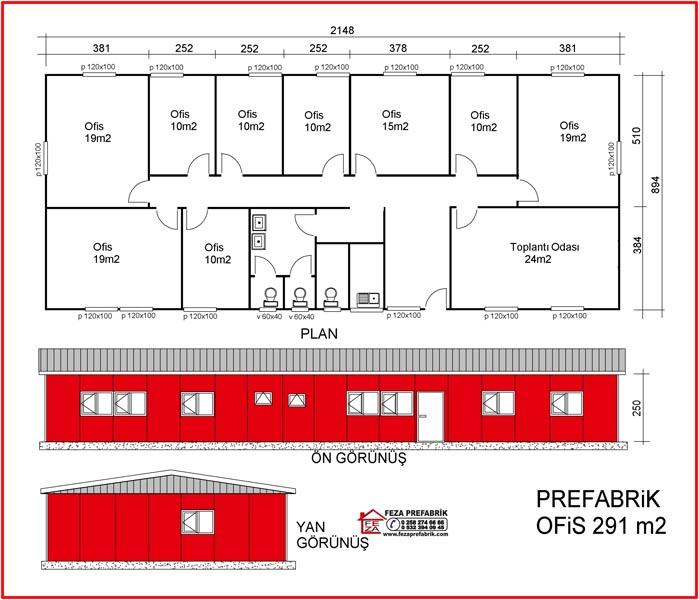 Prefabrik Ofis 291m2