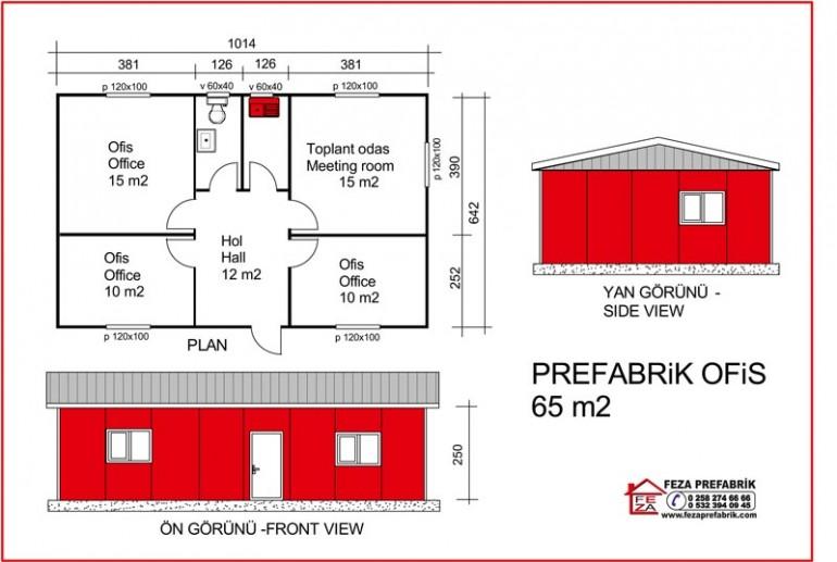 Prefabrik Ofis 65m2