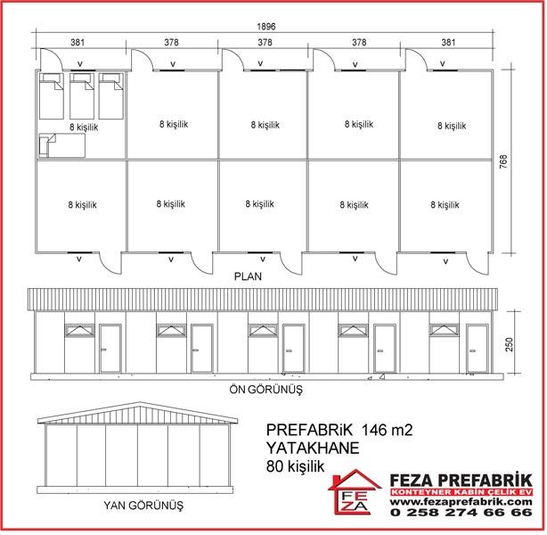 Prefabrik Yatakhane 146m2