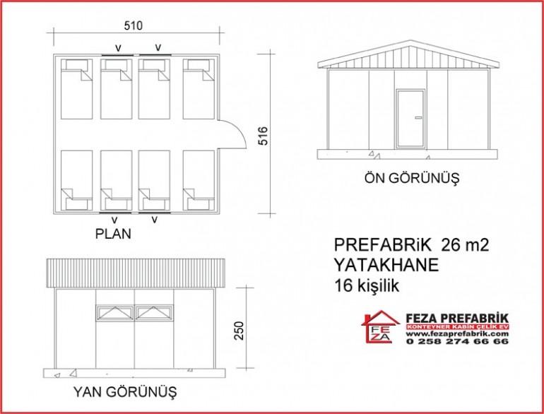 Prefabrik Yatakhane 26m2