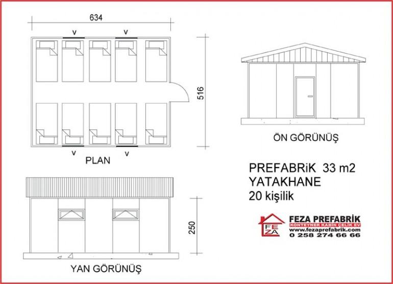 Prefabrik Yatakhane 33m2