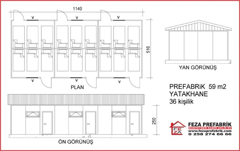 Prefabrik Yatakhane 59m2
